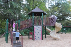 Children using the play area